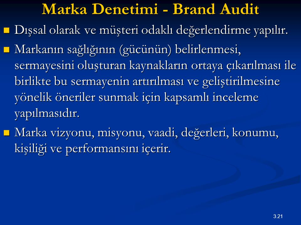 Marka Denetimi - Brand Audit