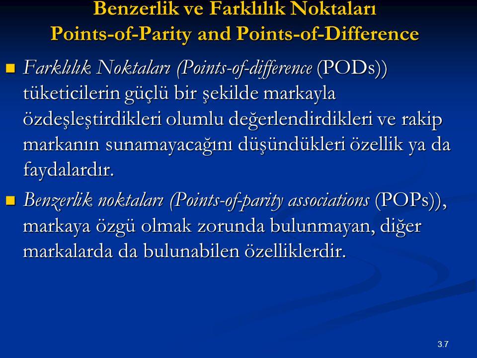 Benzerlik ve Farklılık Noktaları Points-of-Parity and Points-of-Difference