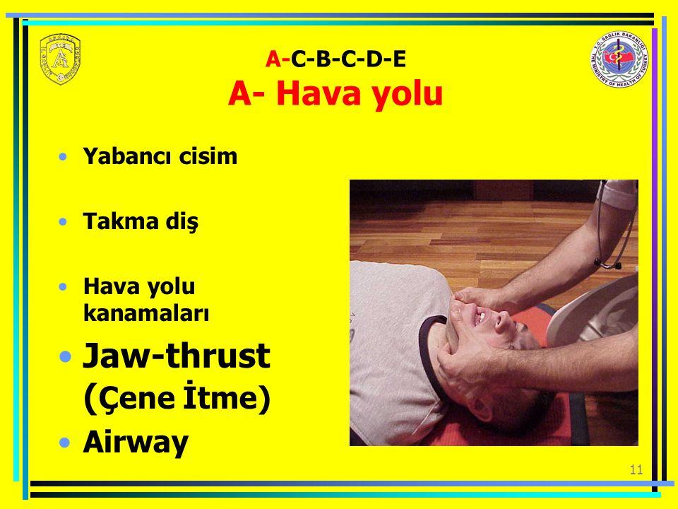 A-C-B-C-D-E A- Hava yolu