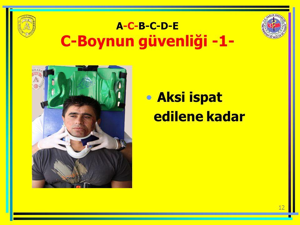 A-C-B-C-D-E C-Boynun güvenliği -1-