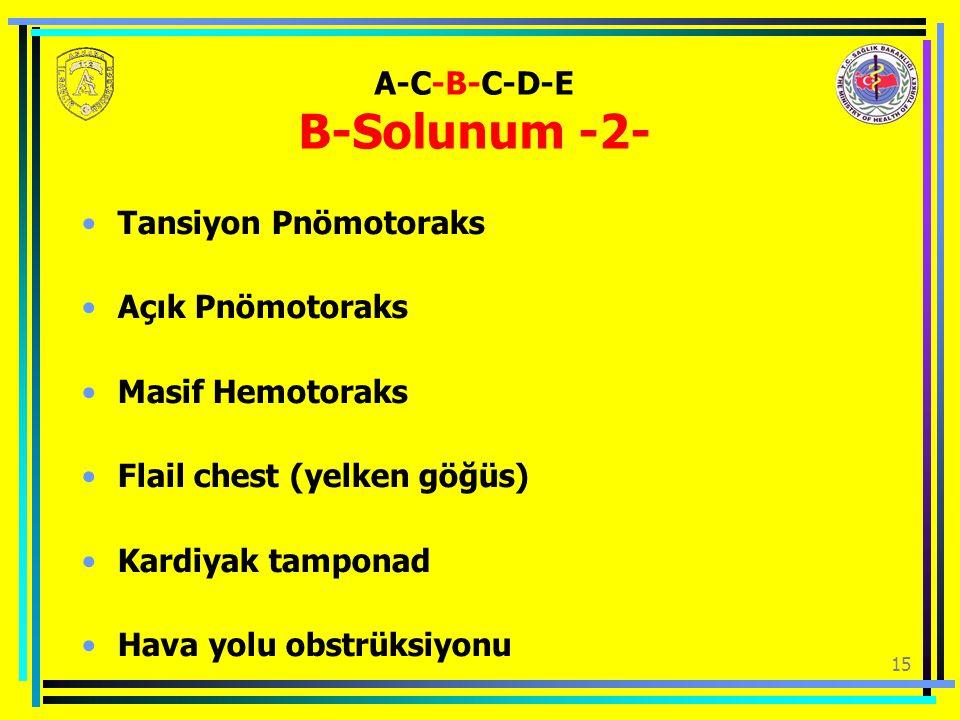 A-C-B-C-D-E B-Solunum -2-