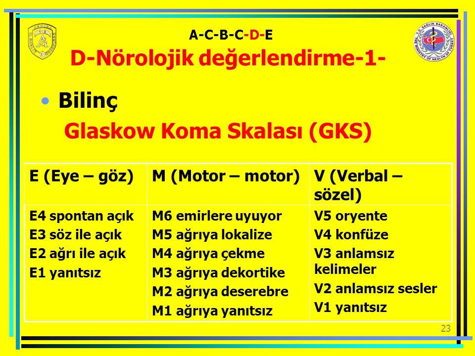 A-C-B-C-D-E D-Nörolojik değerlendirme-1-