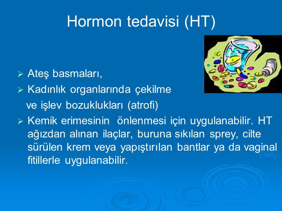 Hormon tedavisi (HT) Ateş basmaları, Kadınlık organlarında çekilme