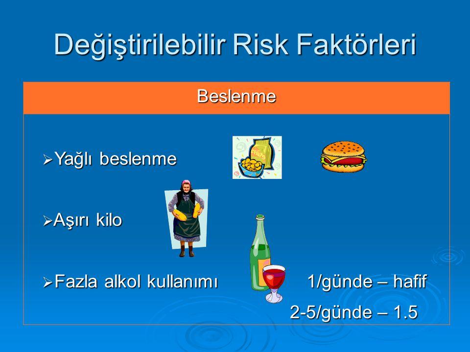 Değiştirilebilir Risk Faktörleri
