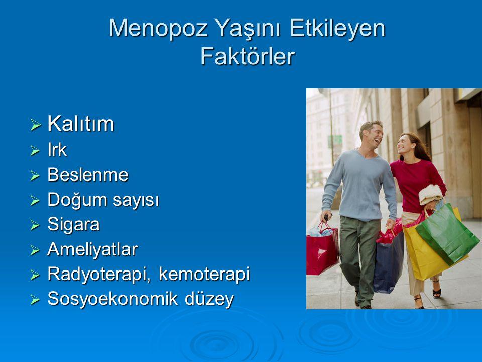 Menopoz Yaşını Etkileyen Faktörler