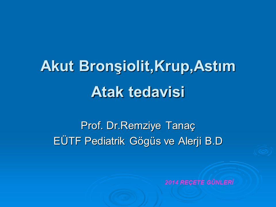 Akut Bronşiolit,Krup,Astım Atak tedavisi