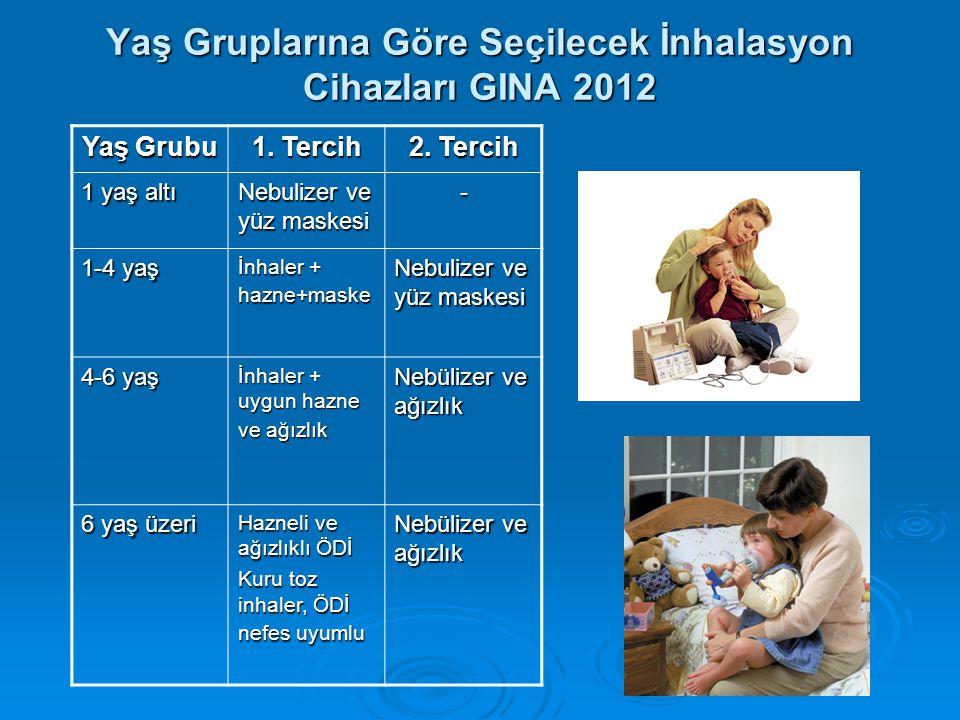 Yaş Gruplarına Göre Seçilecek İnhalasyon Cihazları GINA 2012