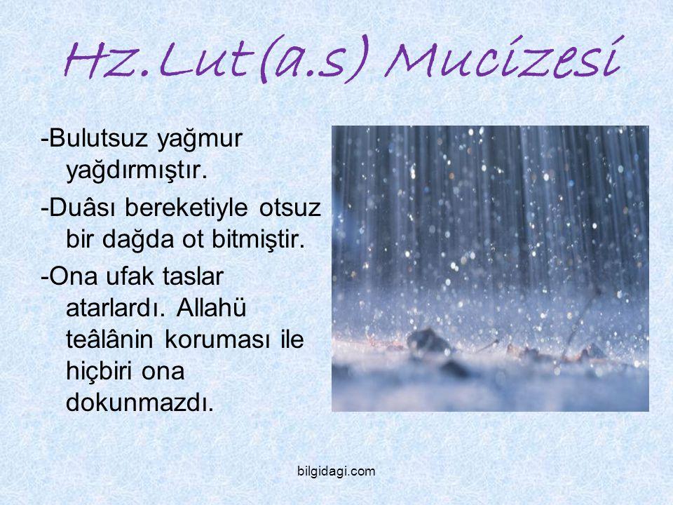 Hz.Lut(a.s) Mucizesi -Bulutsuz yağmur yağdırmıştır.