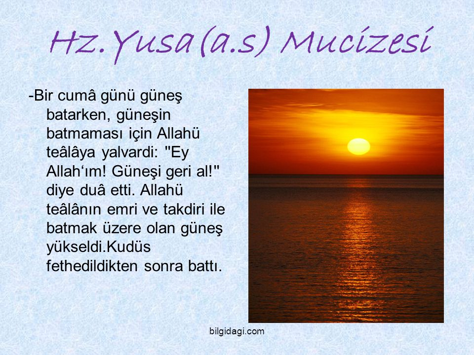 Hz.Yusa(a.s) Mucizesi