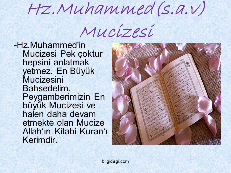 Hz.Muhammed(s.a.v) Mucizesi