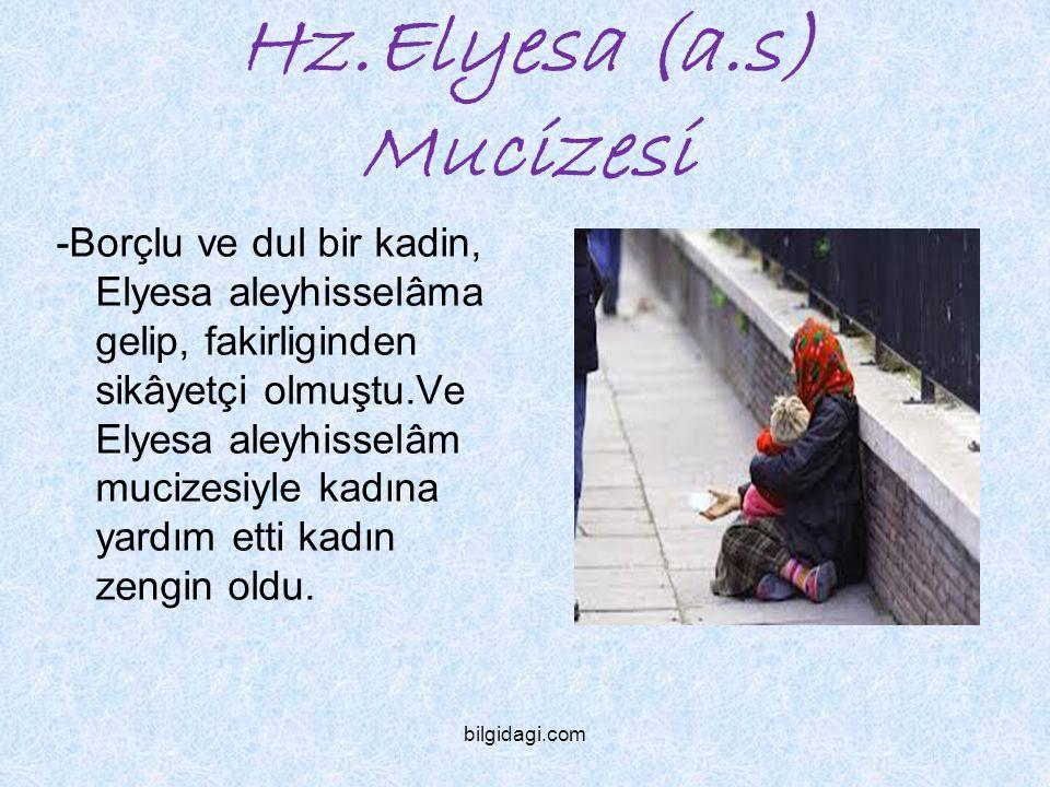 Hz.Elyesa (a.s) Mucizesi