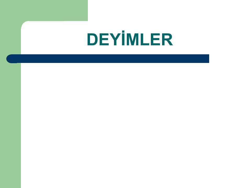 DEYİMLER