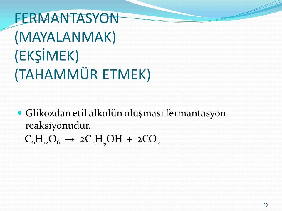 FERMANTASYON (MAYALANMAK) (EKŞİMEK) (TAHAMMÜR ETMEK)