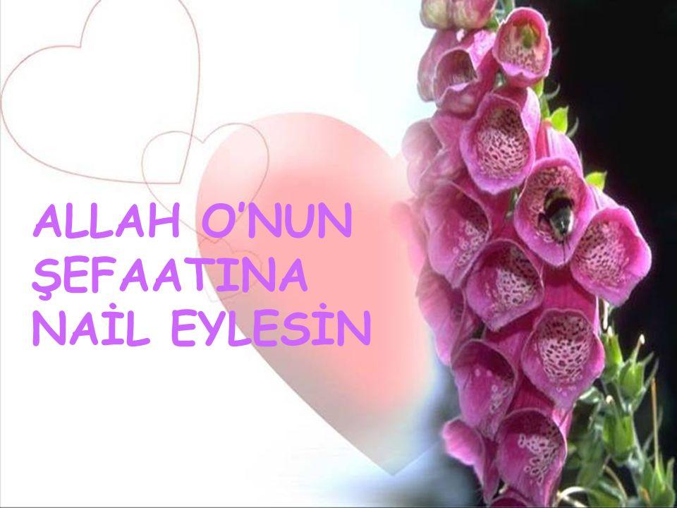 ALLAH O'NUN ŞEFAATINA NAİL EYLESİN
