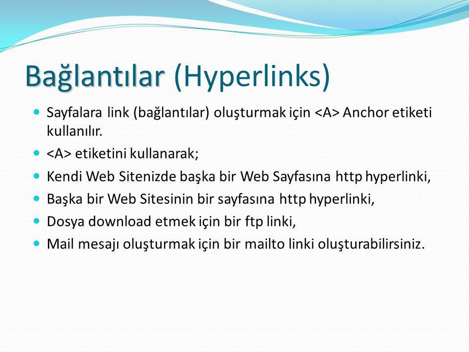 Bağlantılar (Hyperlinks)