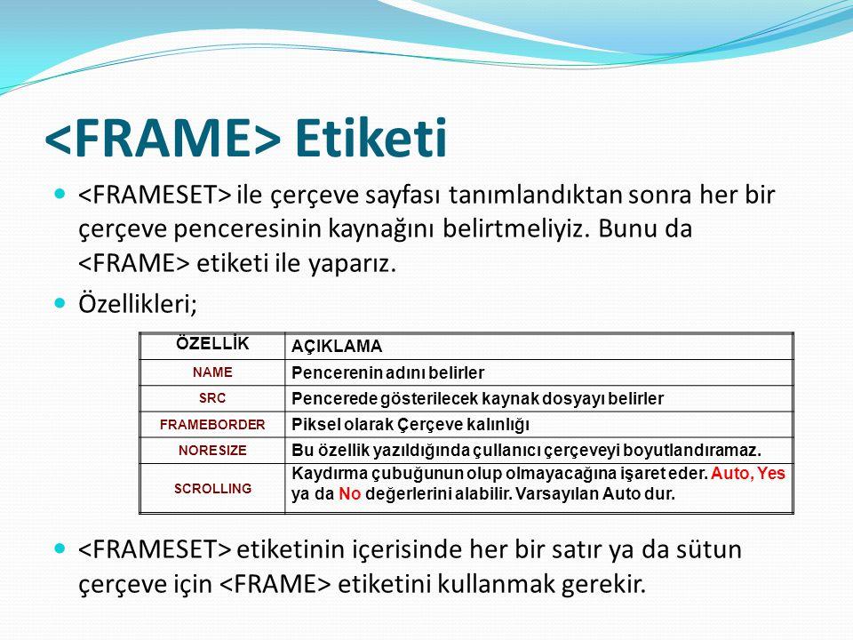 <FRAME> Etiketi