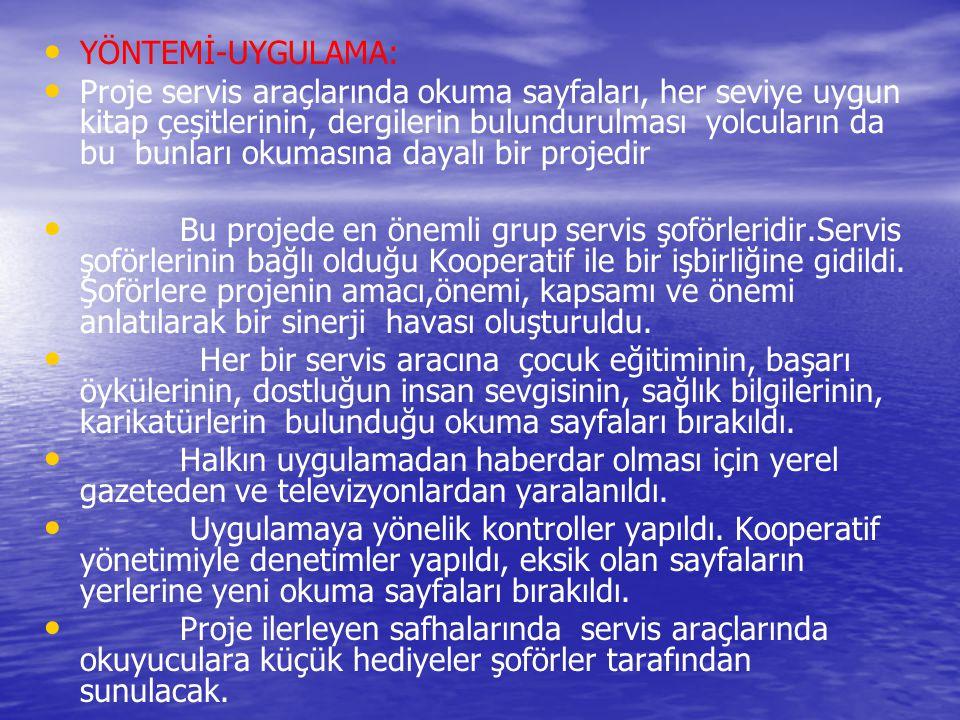 YÖNTEMİ-UYGULAMA: