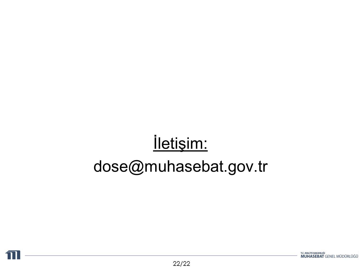 İletişim: dose@muhasebat.gov.tr