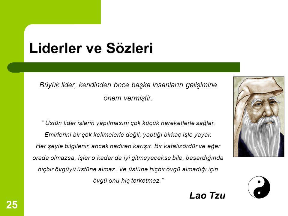 Liderler ve Sözleri Lao Tzu
