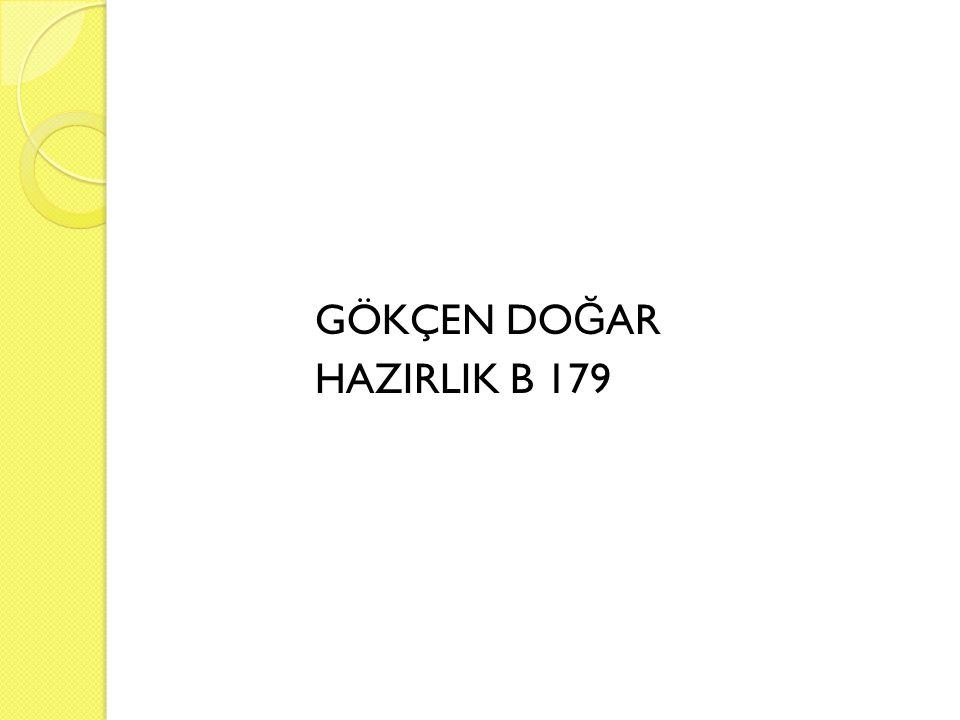 GÖKÇEN DOĞAR HAZIRLIK B 179