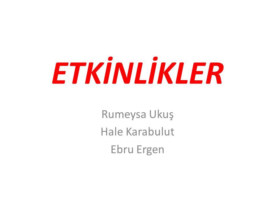 Rumeysa Ukuş Hale Karabulut Ebru Ergen