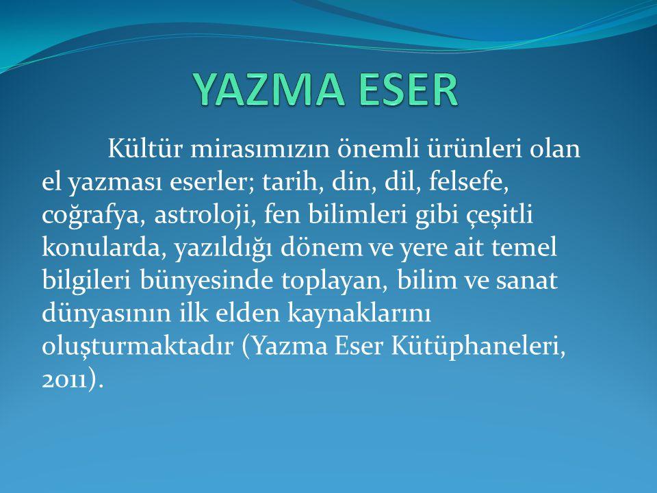 YAZMA ESER