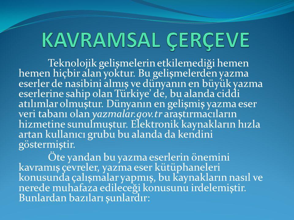 KAVRAMSAL ÇERÇEVE
