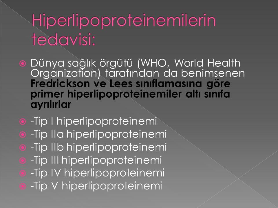 Hiperlipoproteinemilerin tedavisi: