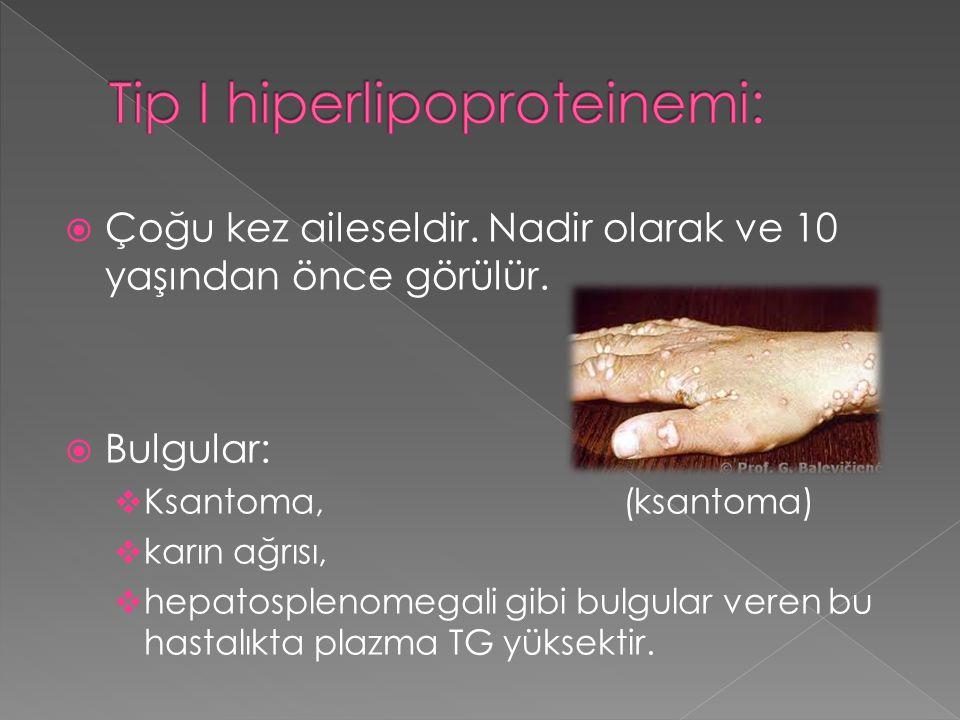 Tip I hiperlipoproteinemi: