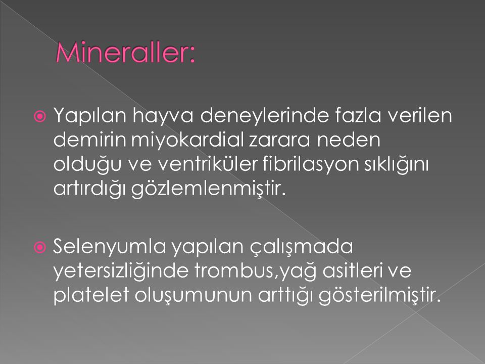 Mineraller: