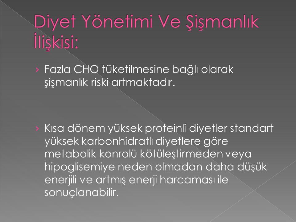 Diyet Yönetimi Ve Şişmanlık İlişkisi: