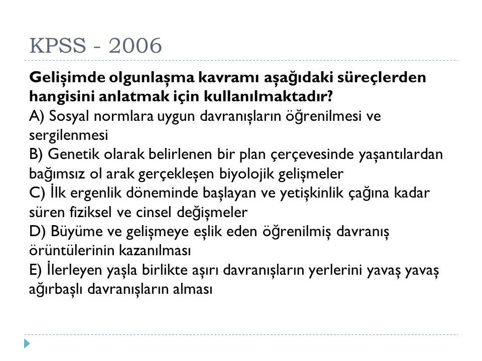 KPSS - 2006