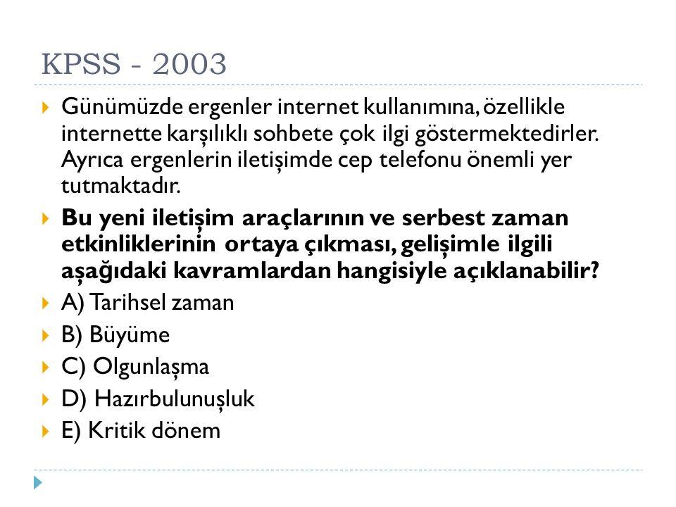 KPSS - 2003