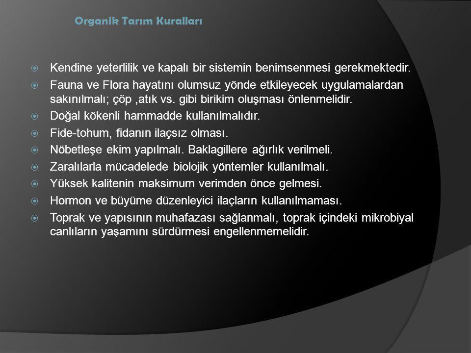 Organik Tarım Kuralları