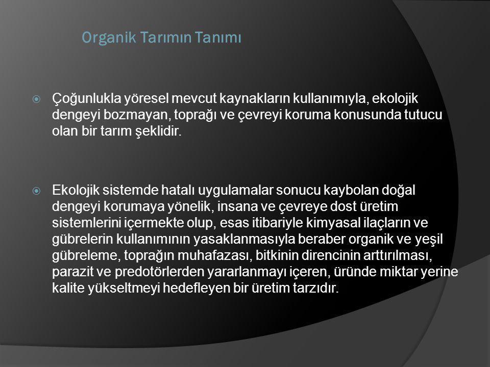 Organik Tarımın Tanımı