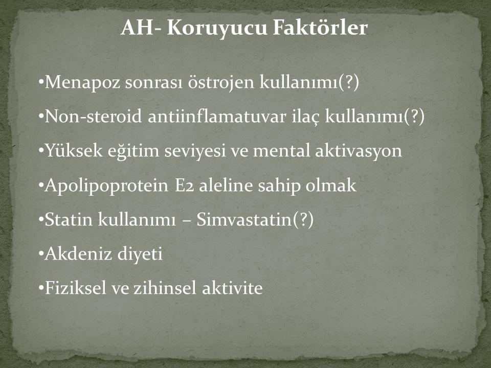 AH- Koruyucu Faktörler