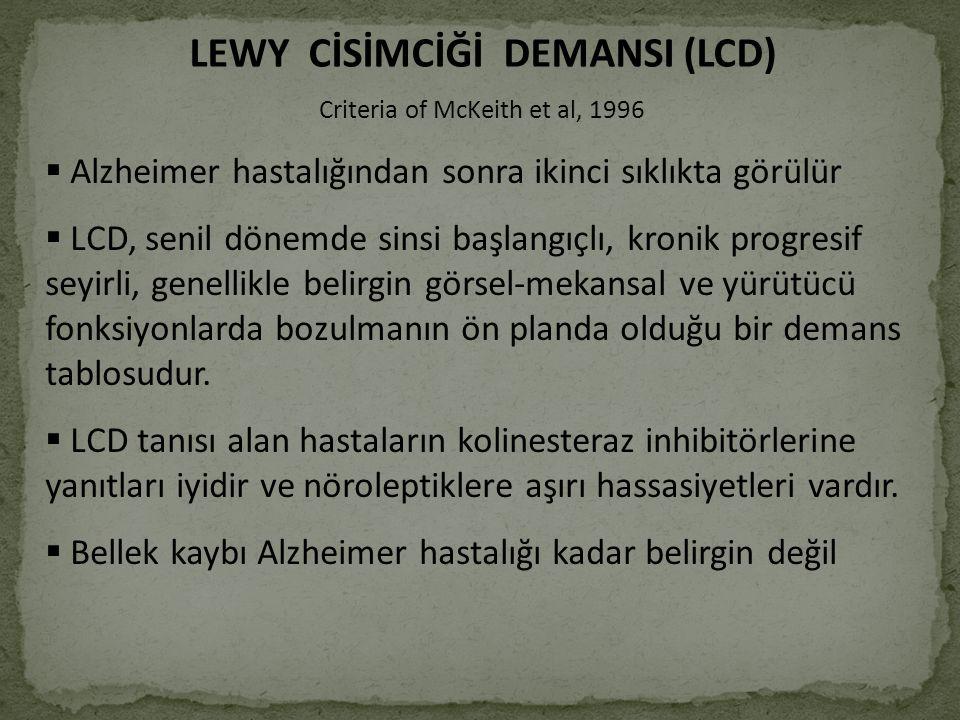 LEWY CİSİMCİĞİ DEMANSI (LCD)