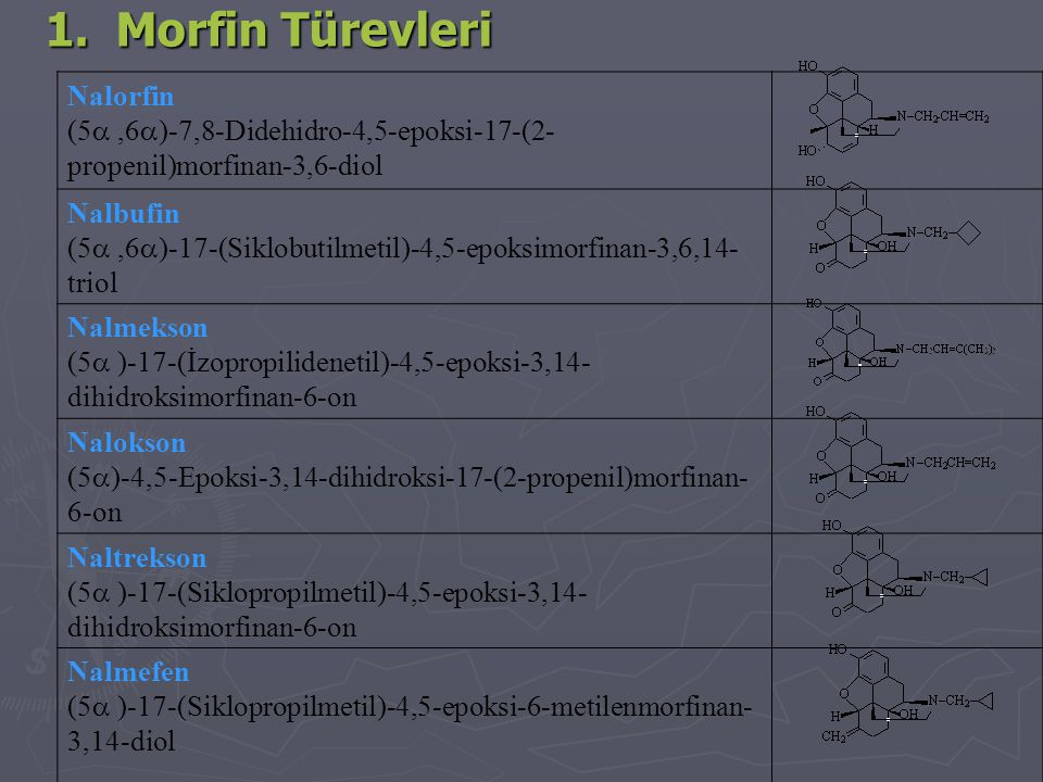 1. Morfin Türevleri Nalorfin