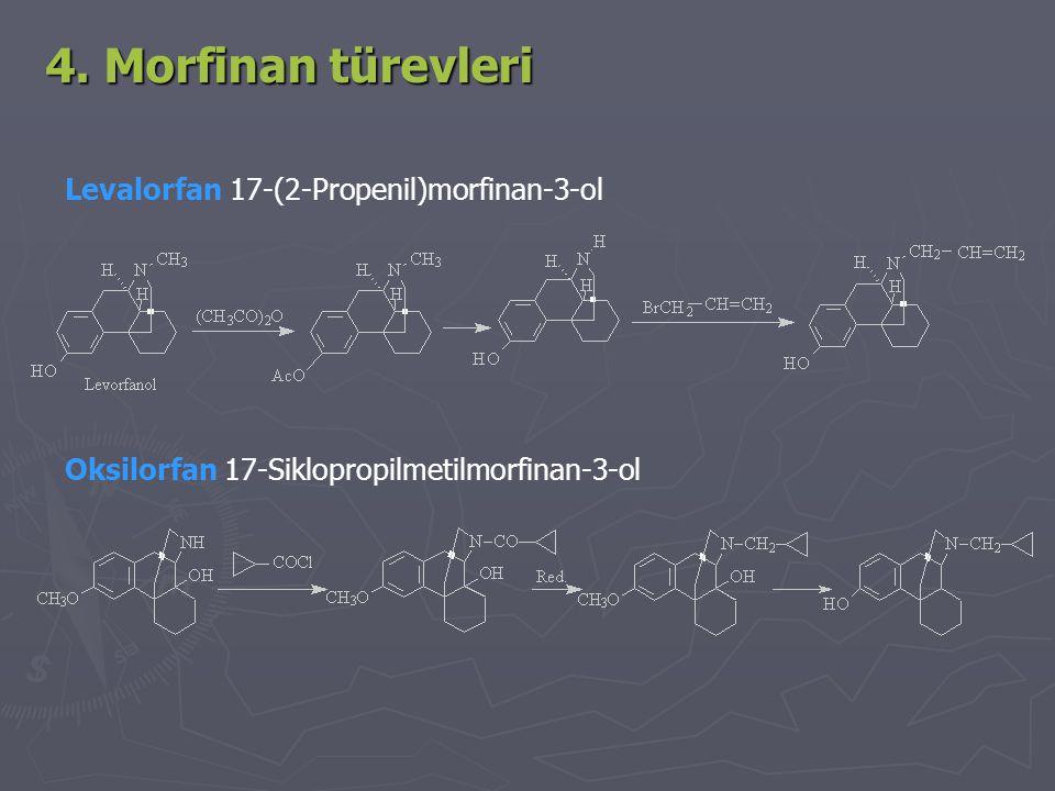 4. Morfinan türevleri Levalorfan 17-(2-Propenil)morfinan-3-ol