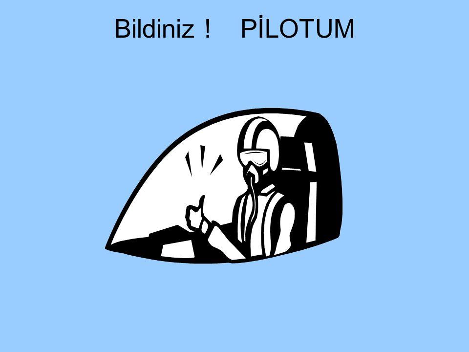 Bildiniz ! PİLOTUM