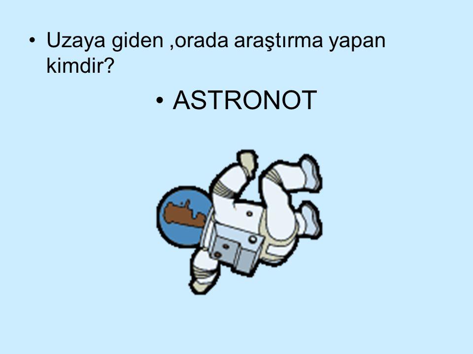 Uzaya giden ,orada araştırma yapan kimdir
