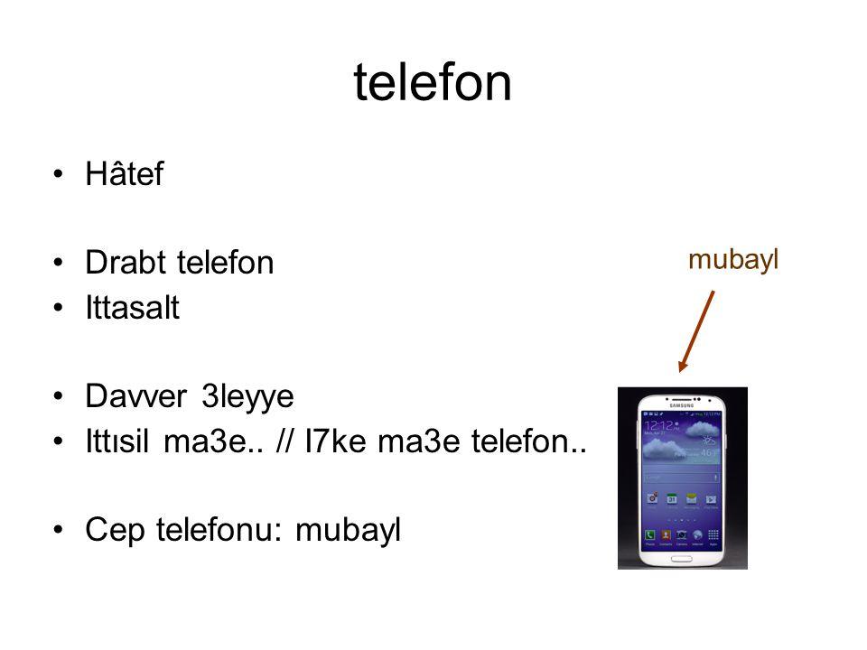 telefon Hâtef Drabt telefon Ittasalt Davver 3leyye