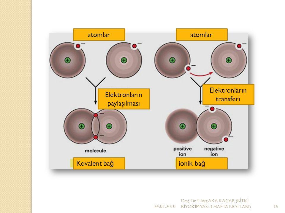 Elektronların transferi Elektronların paylaşılması