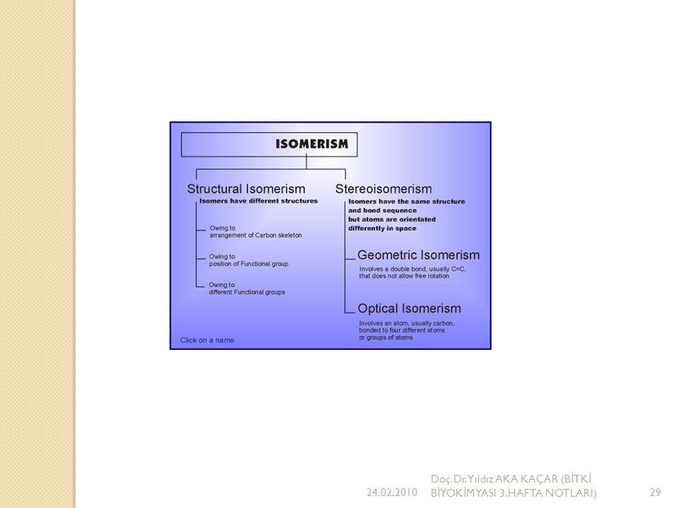 24.02.2010 Doç.Dr.Yıldız AKA KAÇAR (BİTKİ BİYOKİMYASI 3.HAFTA NOTLARI)