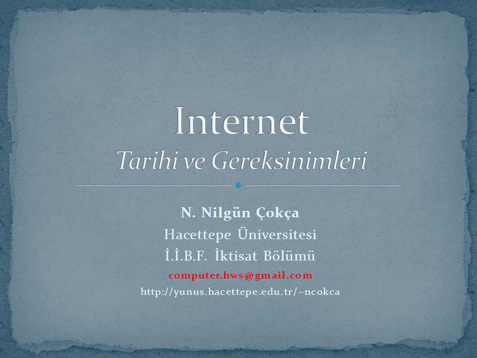 Internet Tarihi ve Gereksinimleri