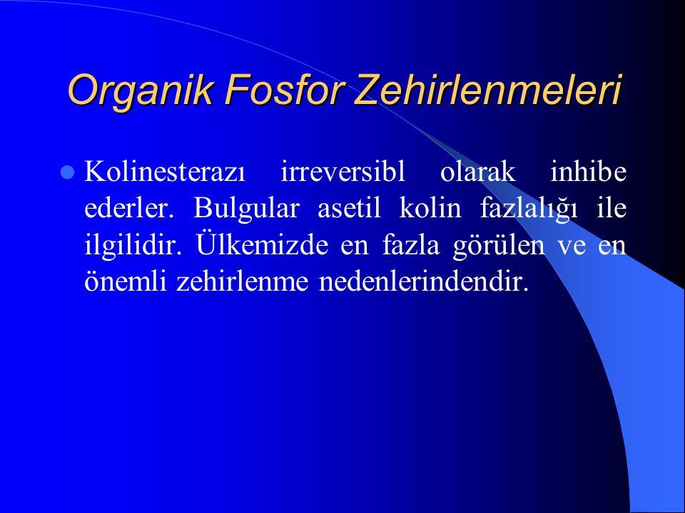 Organik Fosfor Zehirlenmeleri