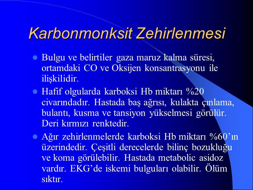 Karbonmonksit Zehirlenmesi