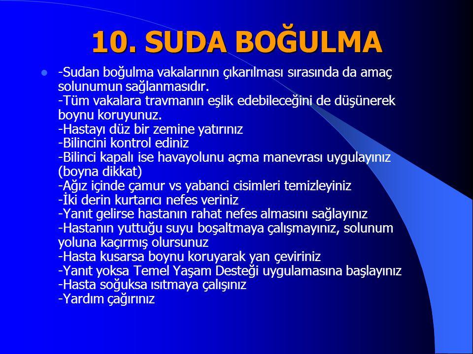 10. SUDA BOĞULMA