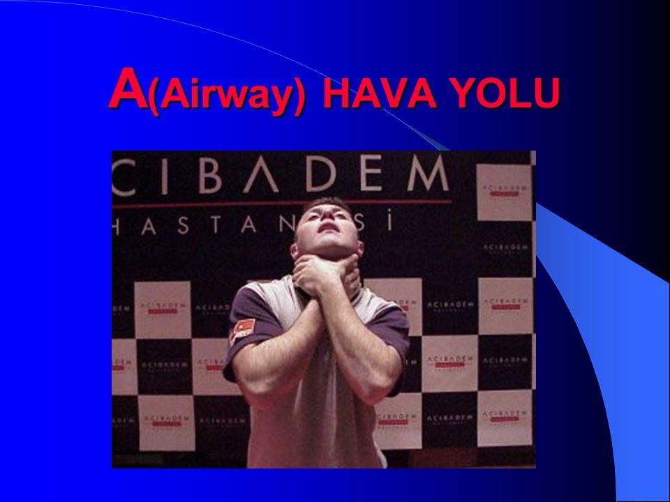 A(Airway) HAVA YOLU