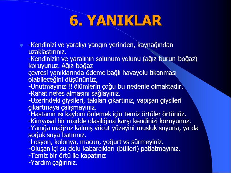 6. YANIKLAR